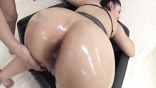 Large Butts: Oiled up and willing to fuck