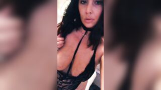 Daddy's girl showing off her beautiful tits and sexy lip bite - Big Boobs Gone Wild
