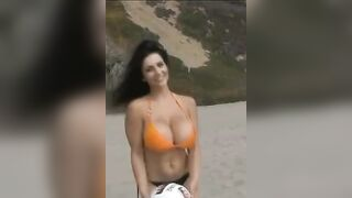 Large Breasts in Bikinis: Play With The Ball