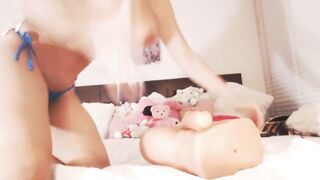 Sofia Nix and her toy