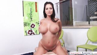 tits bouncing everywhere while riding cock - Ava Addams