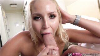 Vanessa Cage sucking a big cock